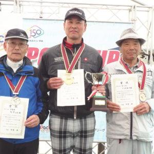 左から阿部正則・村上国男・中嶋祐司選手